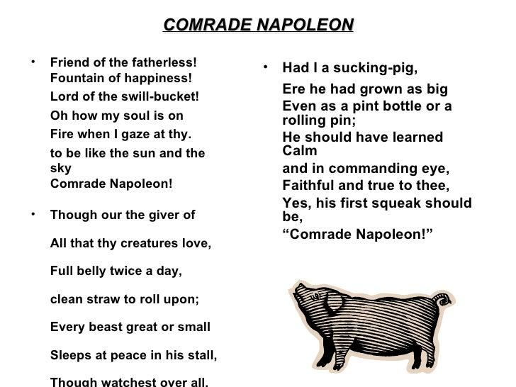 Compare Comrade Napoleon to Beasts of England