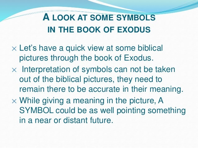 Symbols In Exodus