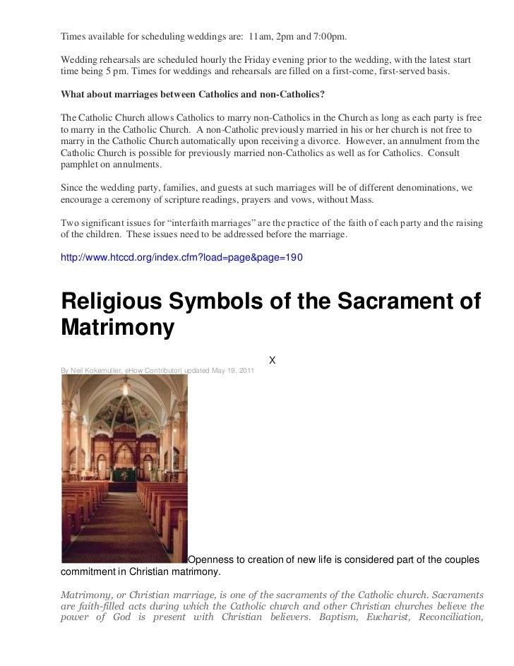 Symbols Of Matrimony