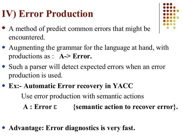 Symbol Table Management And Error Handling In Compiler Design