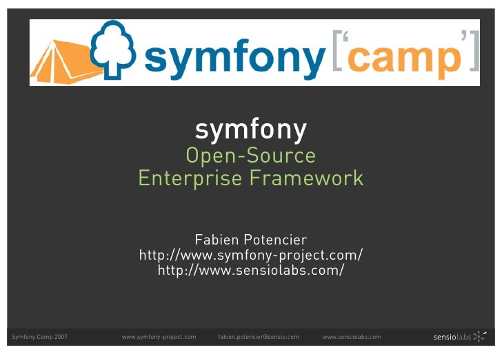 symfony                             Open-Source                         Enterprise Framework                              ...