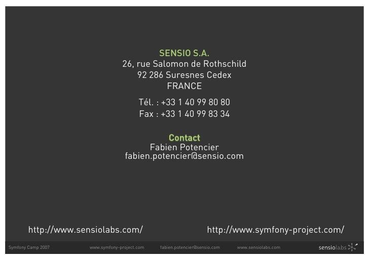 SENSIO S.A.                                   26, rue Salomon de Rothschild                                       92 286 S...