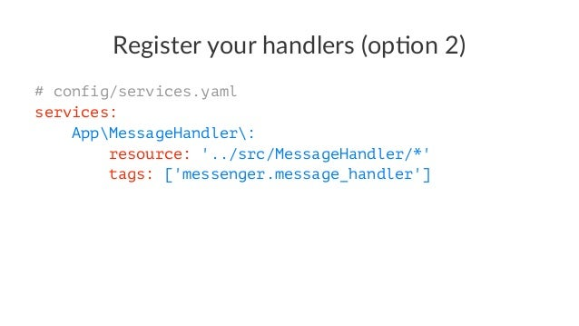 Route your message(s) framework: messenger: routing: 'AppMessageSendNotification': default