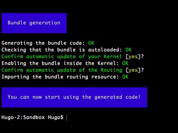 Twigintegration</li></li></ul><li>namespaceSensioBundleTodoBundleForm;<br />useSymfonyComponentFormAbstractType;<br />useS...
