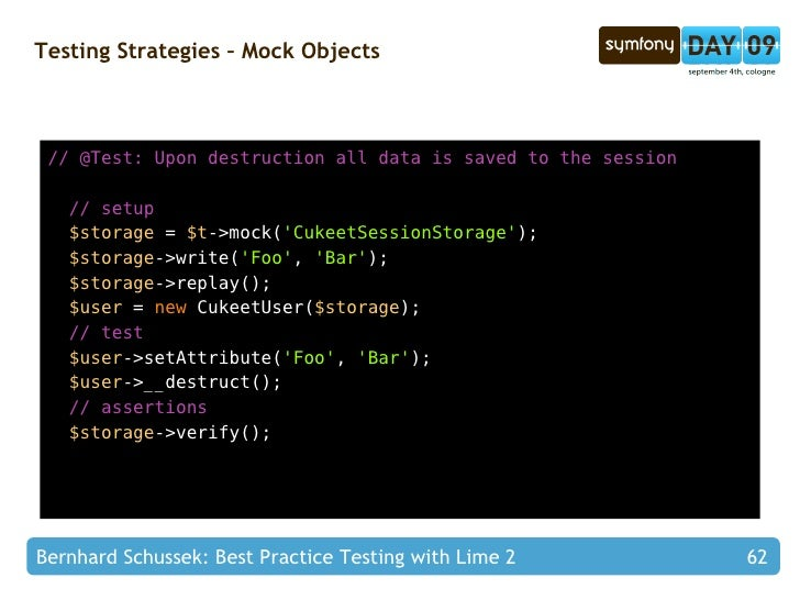 Best Practice Testing with Lime 2