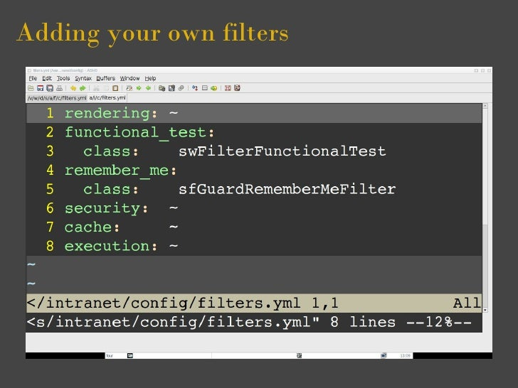Adding your own filters