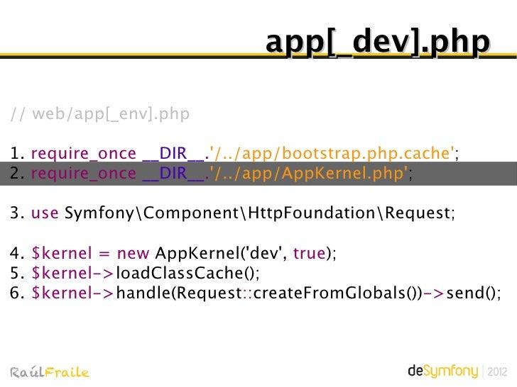 AppKernel.phpIf (true === $debug) {       Guarda inicio petición (microtime)       display_errors = 1       error_reportin...
