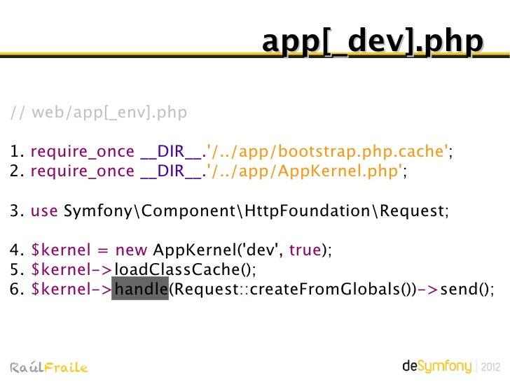 $kernel->boot()Inicialización de bundles y DIC