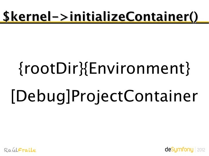 $kernel->handle()Objetivo: Devolver un  objeto Response