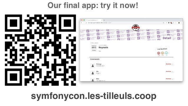 symfonycon.les-tilleuls.coop Our final app: try it now!
