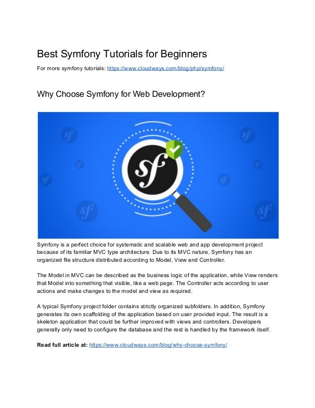 Best​ ​Symfony​ ​Tutorials​ ​for​ ​Beginners For​ ​more​ ​symfony​ ​tutorials:​ ​​https://www.cloudways.com/blog/php/symfo...