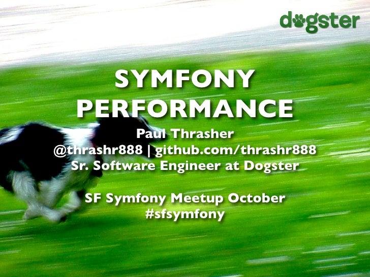Symfony Performance