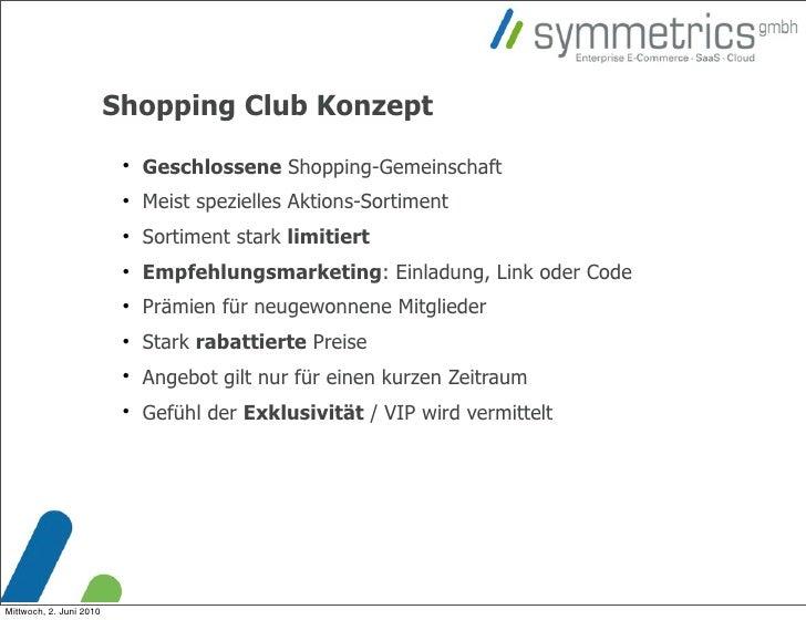 Shopping Club Konzept                                                          Geschlossene Shopping-Gemeinschaft        ...