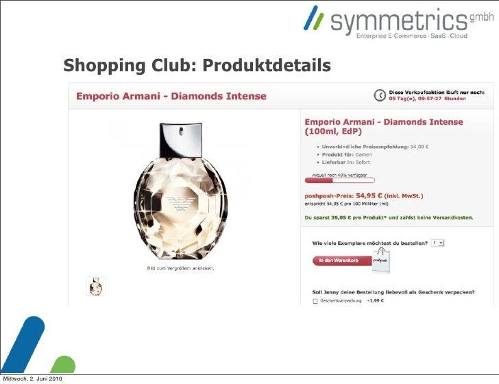 Shopping Club: Produktdetails     Mittwoch, 2. Juni 2010