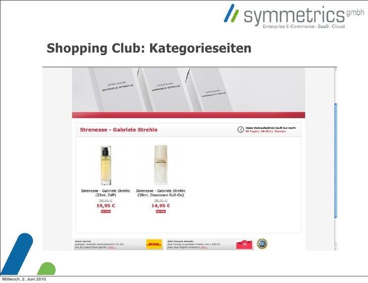 Shopping Club: Kategorieseiten     Mittwoch, 2. Juni 2010