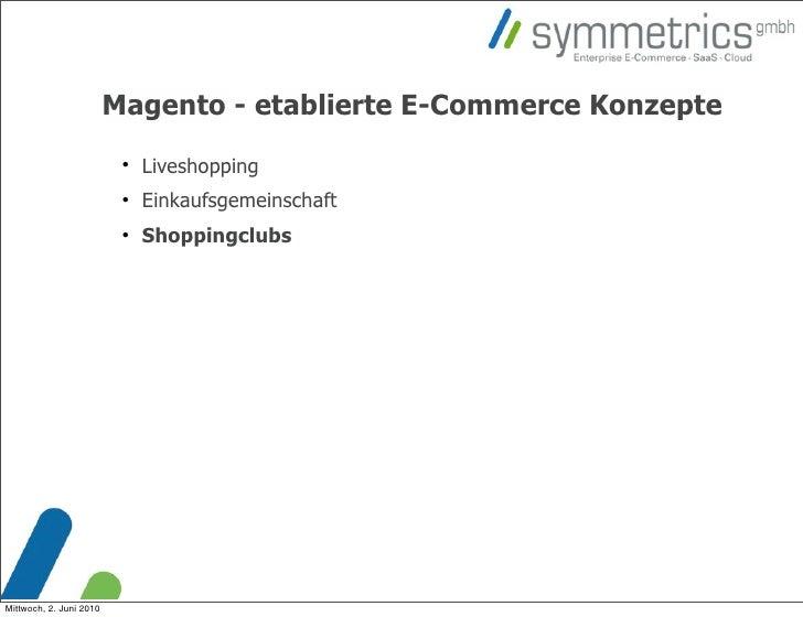 Magento - etablierte E-Commerce Konzepte                                                          Liveshopping           ...