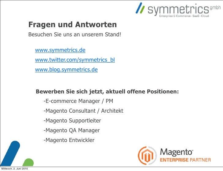 Fragen und Antworten                          Besuchen Sie uns an unserem Stand!                             www.symmetric...