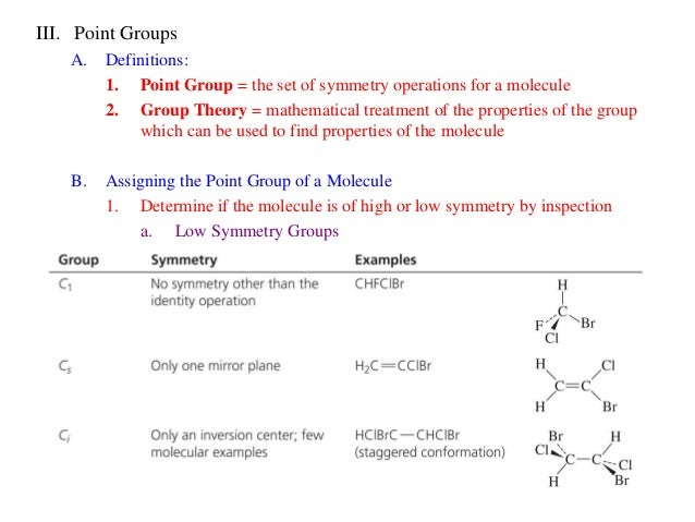 What Are The Mathematical Properties Of A Point Group
