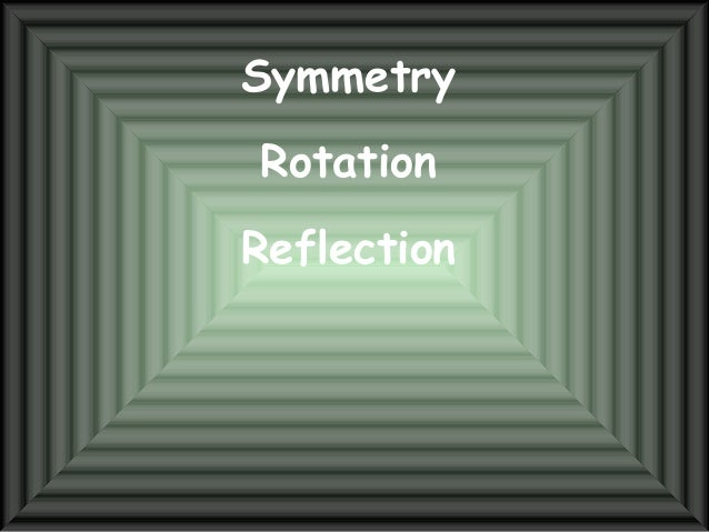 Symmetry Rotation Reflection