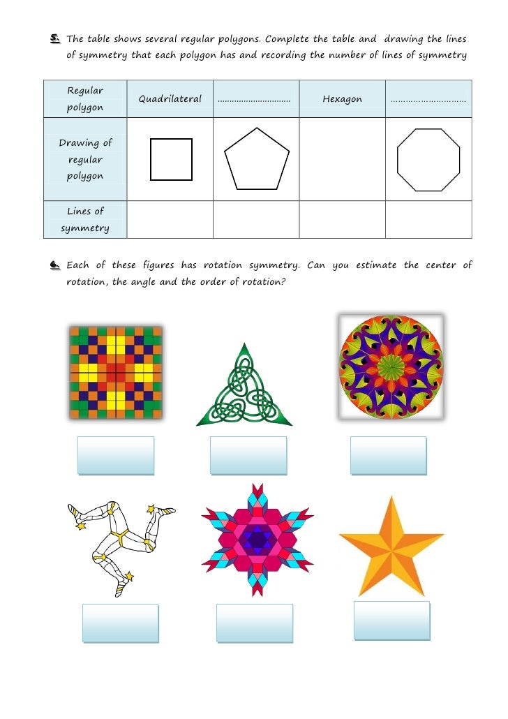 Symmetry Worksheet2
