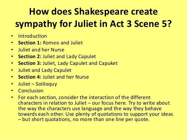 romeo and juliet how does shakespeare