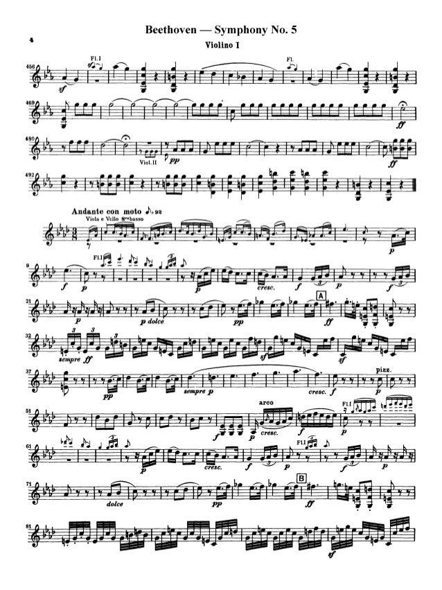 Symphony 5 beethoven violino