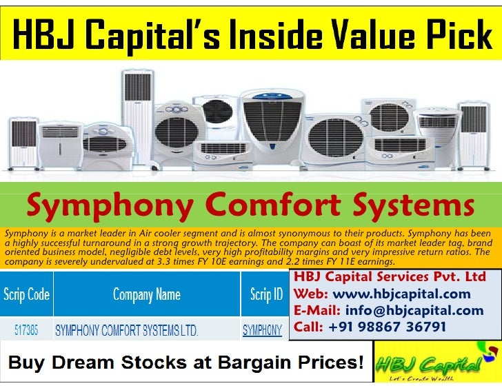 Symphony Comfort SystemsSymphony is a market leader in Air cooler segment and is almost synonymous to their products. Symp...