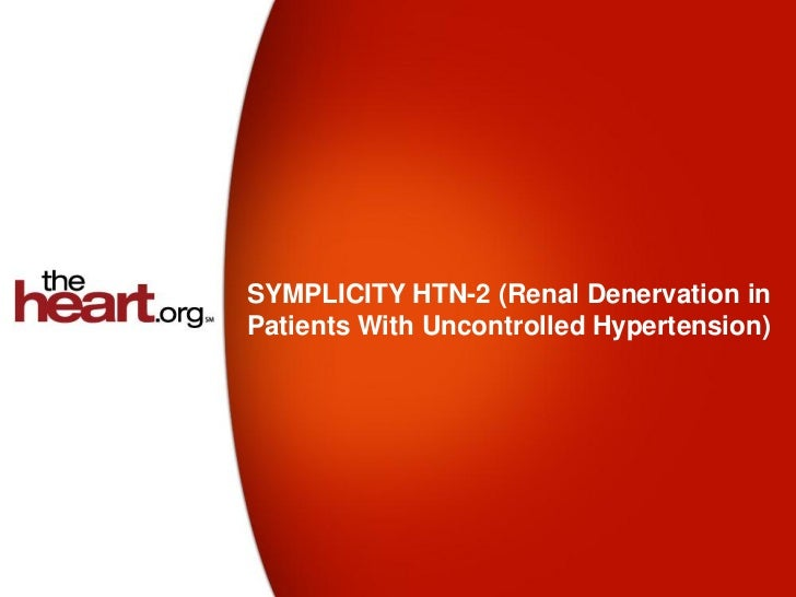 SYMPLICITY HTN-2 (Renal Denervation inPatients With Uncontrolled Hypertension)