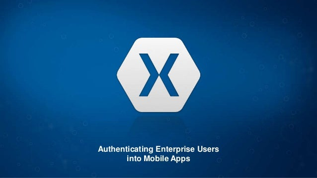 Authenticating Enterprise Users into Mobile Apps