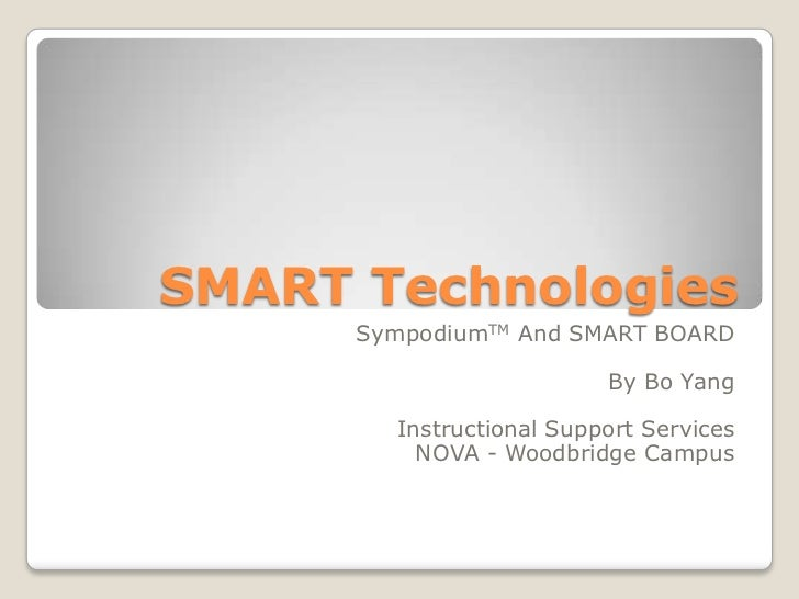 Sympodium and smart board