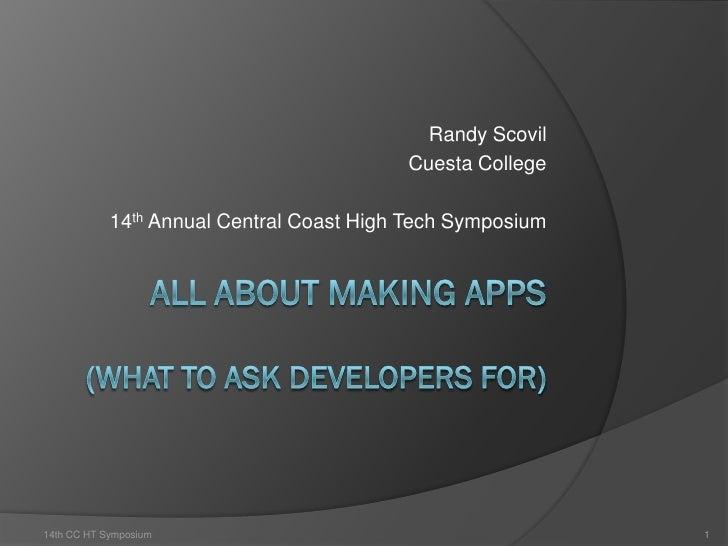 Symposium App Development-Scovil