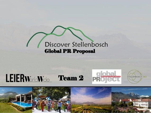 Global PR Proposal  Team 2