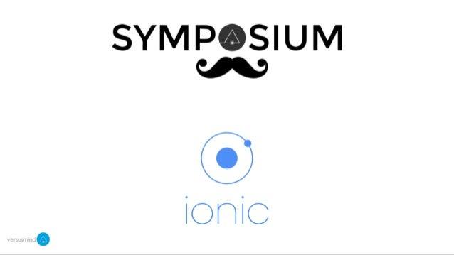 Symposium n°3 : Ionic Framework