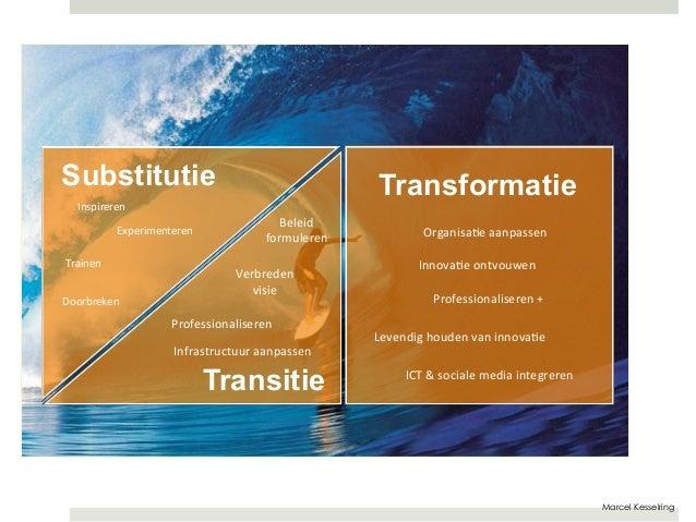 Marcel Kesselring  Beleid  formuleren  Verbreden  visie  Professionaliseren  Infrastructuur  aanpassen  Transitie  Transfo...