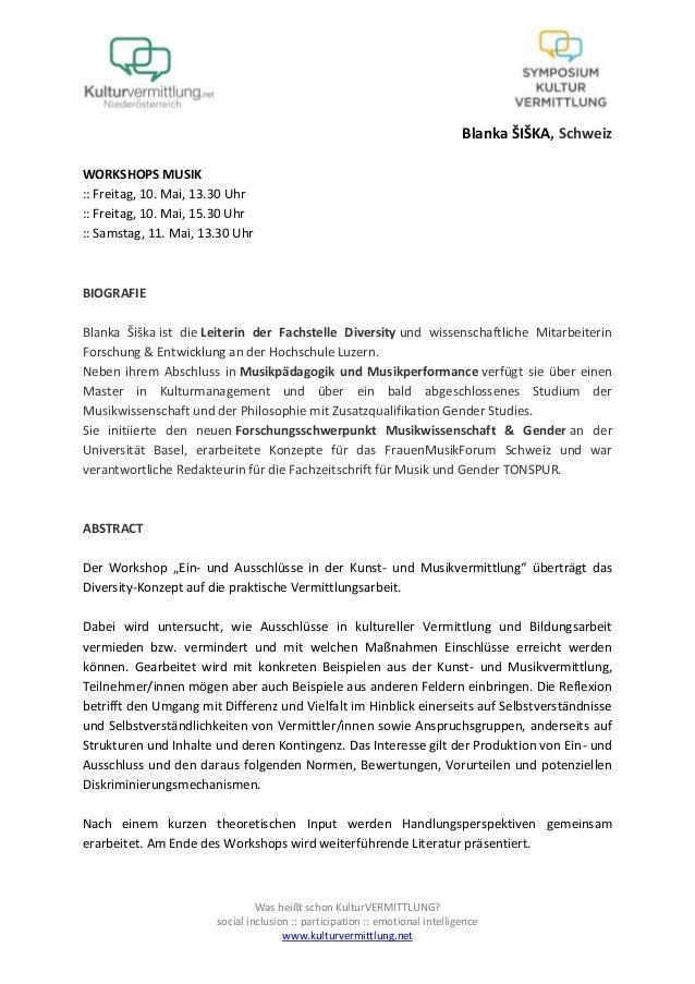 Was heißt schon KulturVERMITTLUNG?social inclusion :: participation :: emotional intelligencewww.kulturvermittlung.netBlan...