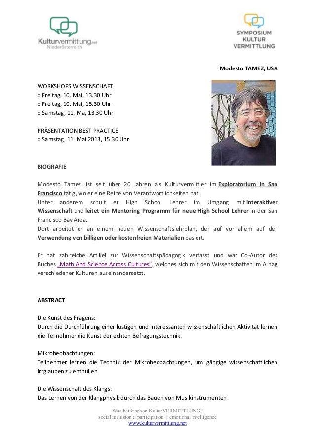 Was heißt schon KulturVERMITTLUNG?social inclusion :: participation :: emotional intelligencewww.kulturvermittlung.netMode...