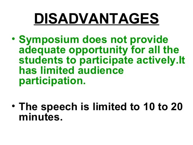 Symposium Method of Teaching