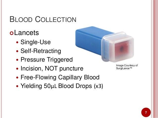 Symposium Presentation Development Of A Dried Blood Spot