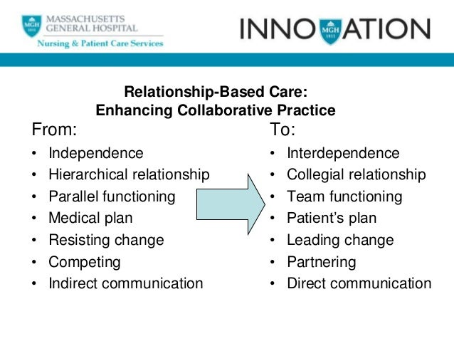eight dimensions of relationship based care