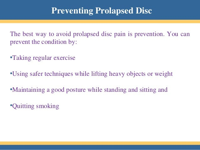 how to fix a prolapsed disc
