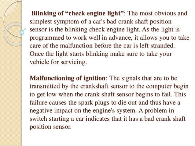 Symptoms of a Bad Crank Shaft Position Sensor