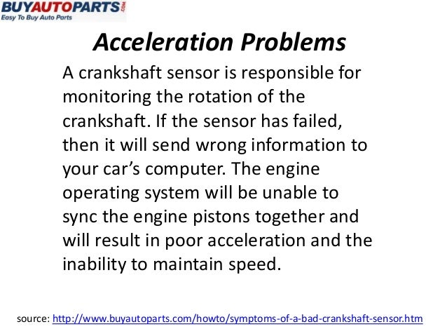 What is a symptom of a bad crank sensor?