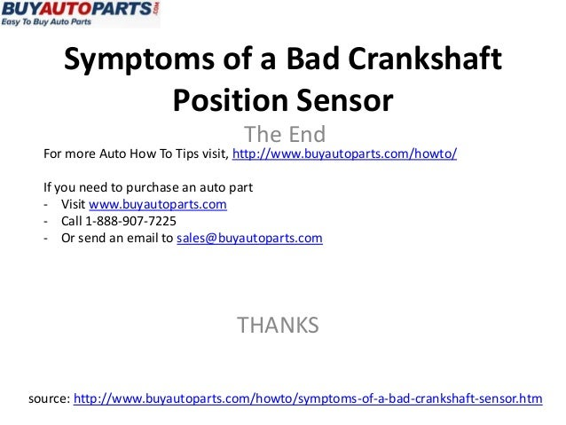 Symptoms Of A Bad Crankshaft Sensor on crank sensor problems