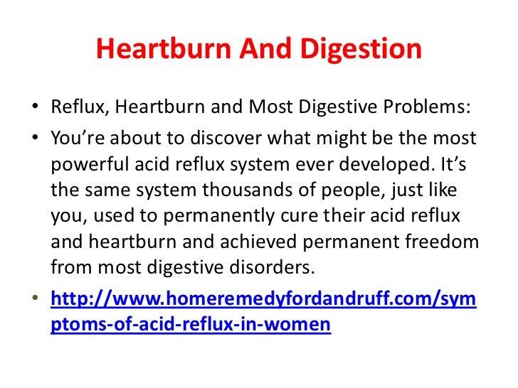 Acid Reflux Symptoms in Women