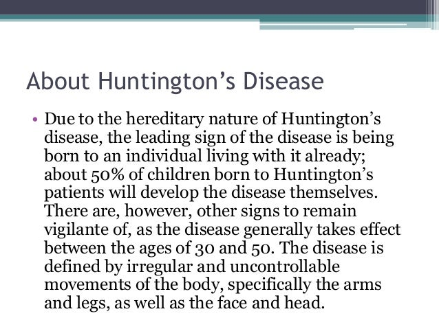 evaluation and management of huntingtons disease essay Distinguishable by a single gene, genetic testing for huntington's disease carries complex ethical issues.