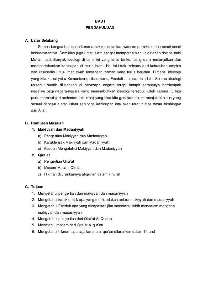 Makiyyah Madaniyyah Dan Qiraat Al Qur An