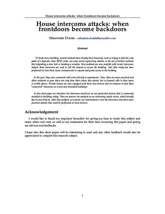 Intercom hacks with GSM interception
