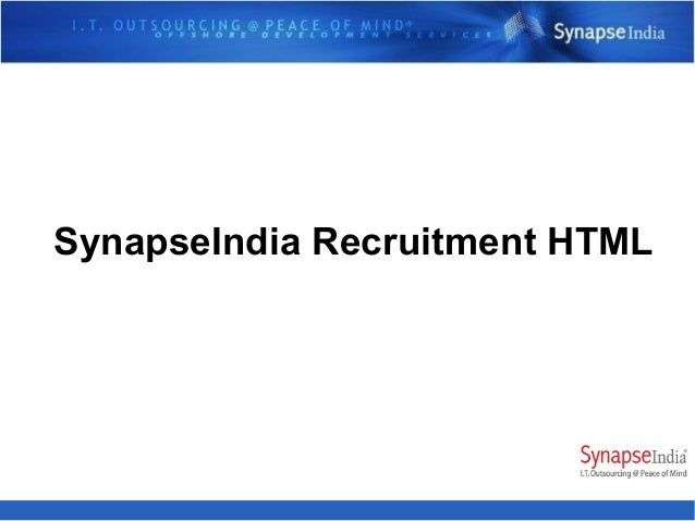 SynapseIndia Recruitment HTML