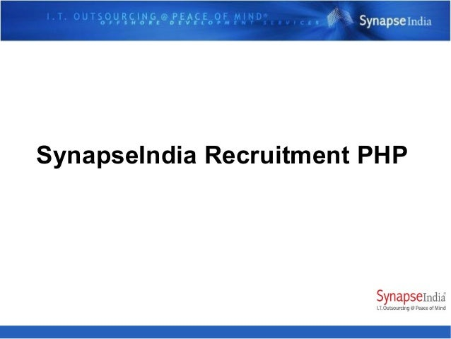 SynapseIndia Recruitment PHP