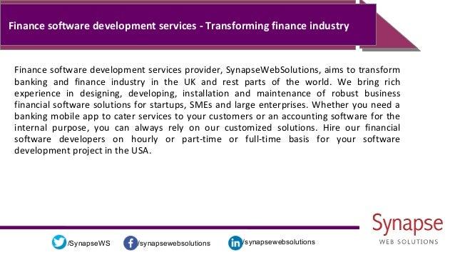 /synapsewebsolutions/synapsewebsolutions/SynapseWS Finance software development services - Transforming finance industry F...